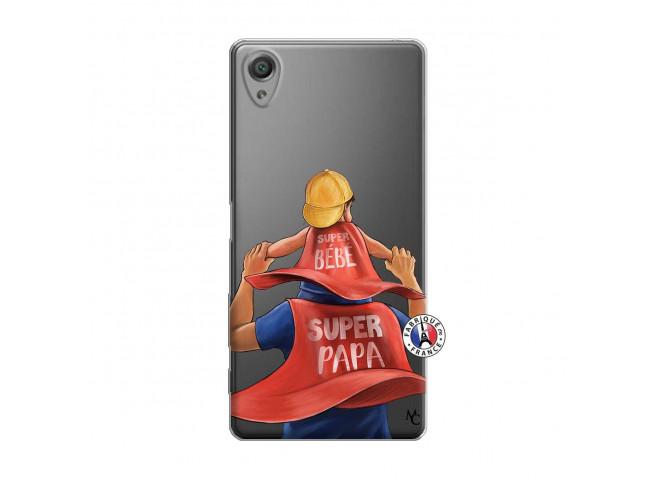 Coque Sony Xperia X Super Papa et Super Bébé