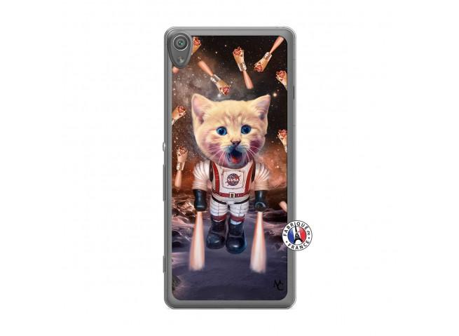 Coque Sony Xperia XA Cat Nasa Translu