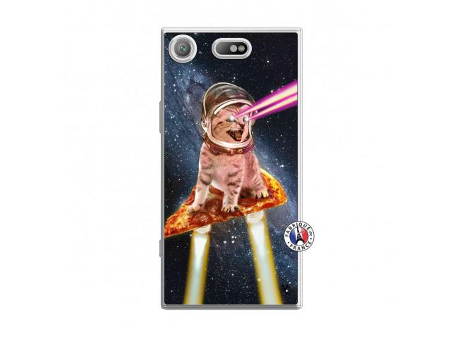 Coque Sony Xperia XZ1 Compact Cat Pizza Translu