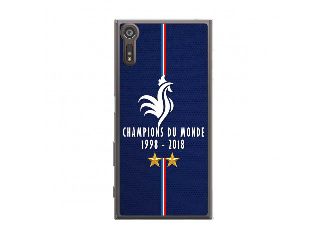 Coque Sony Xperia XZ Champions Du Monde 1998 2018 Transparente