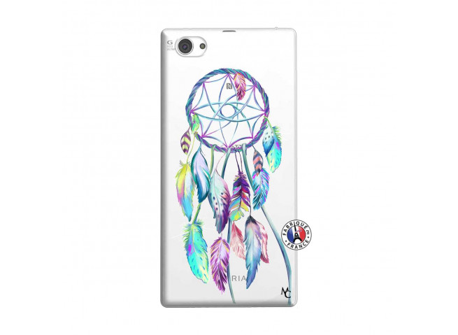Coque Sony Xperia Z1 Compact Blue Painted Dreamcatcher