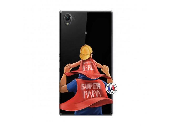 Coque Sony Xperia Z1 Super Papa et Super Bébé