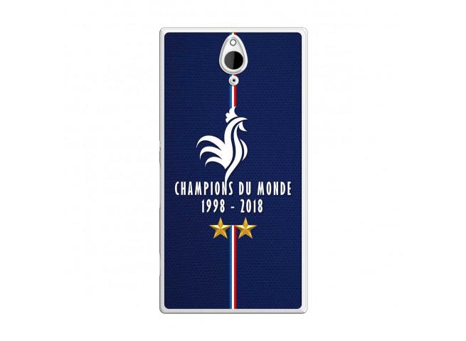 Coque Sony Xperia Z2 Champions Du Monde 1998 2018 Transparente