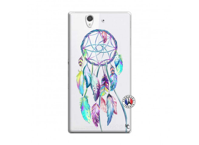 Coque Sony Xperia Z Blue Painted Dreamcatcher