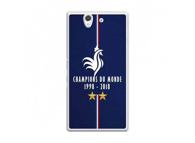 Coque Sony Xperia Z Champions Du Monde 1998 2018 Transparente