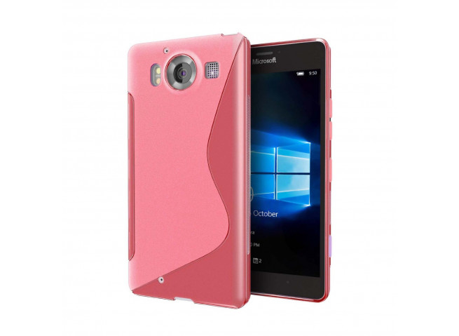 Coque Microsoft Lumia 950 Silicone Grip-Rose