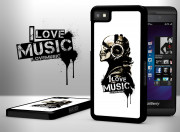 Coque Blackberry Z10 I Love Music-Blanc