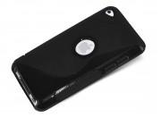 Coque iPod Touch 4 Grip Flex Noir