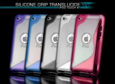 Coque iPod Touch 4 Silicone Grip Translucide