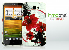 Coque HTC One X Red Flower