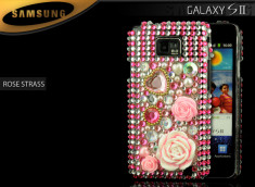 Coque Galaxy S2 i9100 Rose Strass