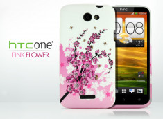 Coque HTC One X Pink Flower