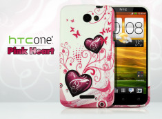 Coque HTC One X Pink Heart