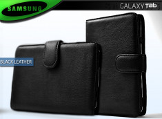 "Etui Galaxy Tab P1000 ""Black Leather"""