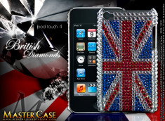 "Coque iPod Touch 4 ""British Diamonds"""