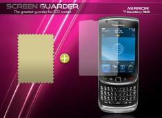 KIT avec 1 film protecteur effet Miroir + 1 chiffon Blackberry Torch 9800