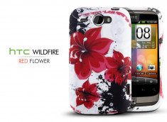 "Coque HTC Wildfire G8 ""Red Flower"""