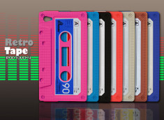 "Coque iPod Touch 4 ""Retro Tape""-rouge"