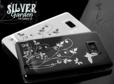 Coque Samsung Galaxy S2 Silver Garden