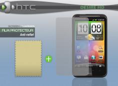 KIT avec 1 film protecteur effet Anti-reflet + 1 chiffon HTC Desire HD