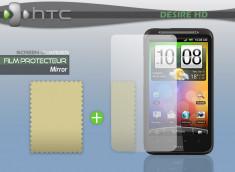 KIT avec 1 film protecteur effet Miroir + 1 chiffon HTC Desire HD