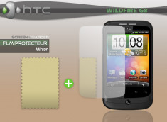 KIT avec 1 film protecteur effet Miroir + 1 chiffon HTC Wildfire G8