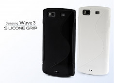 Coque Samsung Wave 3 Silicone Grip