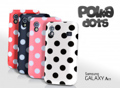 Coque Galaxy Ace Polka Dots