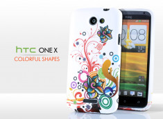 Coque HTC One X Colorful Shapes