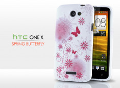 Coque HTC One X Spring Butterfly