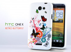 Coque HTC One X Retro Butterfly