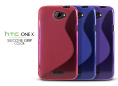Coque HTC One X Silicone Grip Color