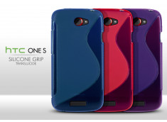 Coque HTC One S Silicone Grip Color