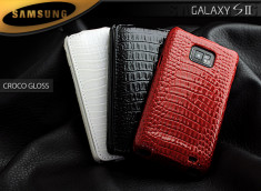 Etui samsung Galaxy S2 Croco Gloss