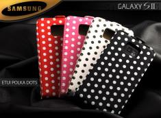 Etui Samsung Galaxy S2 Polka Dots