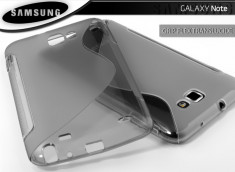 Coque Samsung Galaxy Note 1 Silicone Grip Translucide