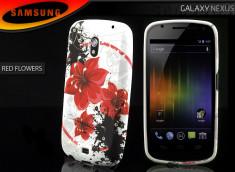 Coque Samsung Galaxy Nexus Red Flower