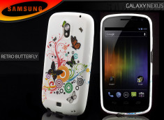 Coque Samsung Galaxy Nexus Retro Butterfly