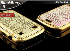 Coque BlackBerry Bold 9900/9930 Steel Lines