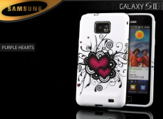 Coque Galaxy S2 Purple Hearts