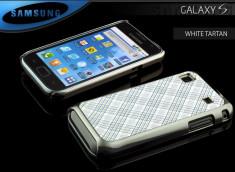 Coque Samsung Galaxy S i9000 White Tartan
