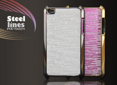 "Coque iPod Touch 4 ""Steel Lines"""