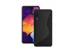 Coque Samsung Galaxy A30 Silicone Grip-Noir