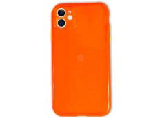 Coque iPhone 12/12 Pro Clear Hybrid Fluo Orange