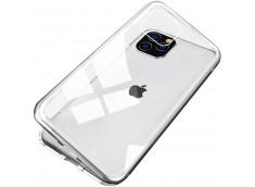 Coque iPhone 11 Magnétique avec Verre Trempé Arrière-Argent