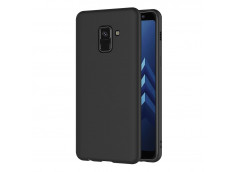 Coque Samsung Galaxy A8 2018 Black Matte Flex