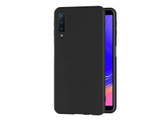 Coque Samsung Galaxy A7 2018 Black Matte Flex