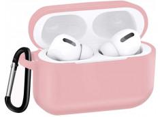 Pochette Silicone for Airpod 3 avec Crochet -Rose