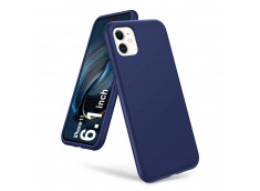 Coque iPhone 11 Blue Navy Matte Flex