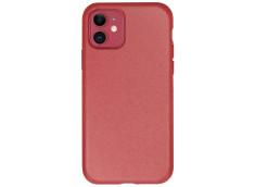 Coque iPhone 12/12 Pro Silicone Biodégradable-Rouge
